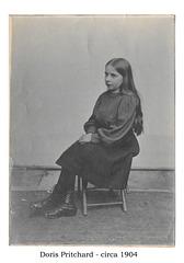 Doris Pritchard in school dress c1904