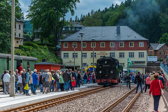 Bahnhofsfest im Bahnhof Kuort Kipsdorf zur Neueröffnung