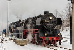 Die Chemnitzer reko-50er als Zuglok und die Nossener als Vorspann in Thalheim