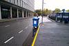 Lonely bin in the gutter