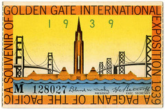 Golden Gate International Exposition Ticket, San Francisco, 1939