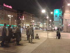 Wrocław city - The Anonymous Passerby monument