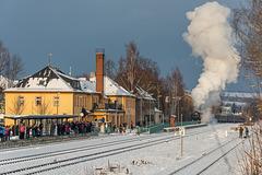 Scheineinfahrt im Bahnhof Thalheim/Erzgeb.