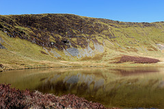 Glacial lake of Llyn LLuncaws.