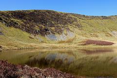 Glacial lake of Llyn LLuncaws.
