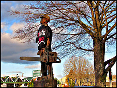 Forestry Worker Statue.