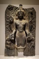 Vishnu with Lakshmi and Sarasvati (Explored)