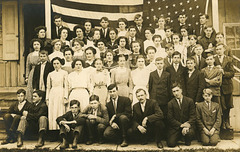 Students with Flag