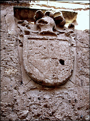 Still proud after all these years. Escutcheon, Pedraza.