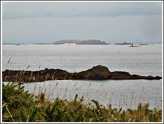Vue vers l'île de Cézembre depuis la pointe de la Varde(35)