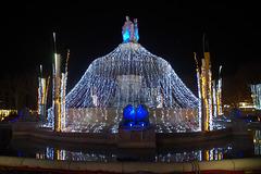 Fontaine lumineuse !