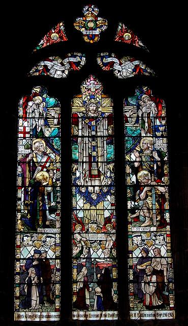 Memorial to Lt Arthur Noel Eyre RAF, South Aisle, Chesterfield Parish Church, Derbyshire