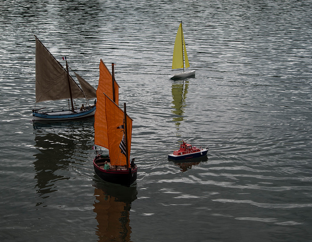 maquettes au plan d'eau d'Anse (Rhône)