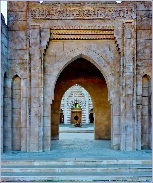 Sharm el Sheikh : la parte esterna della moskea molto accogliente - Salam Mosque