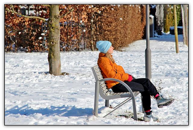 ...und Gabi wartet im Park...