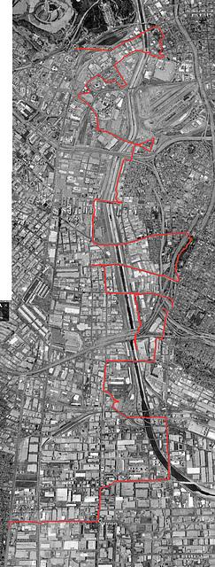 Ten Bridges Epic map from Google Earth