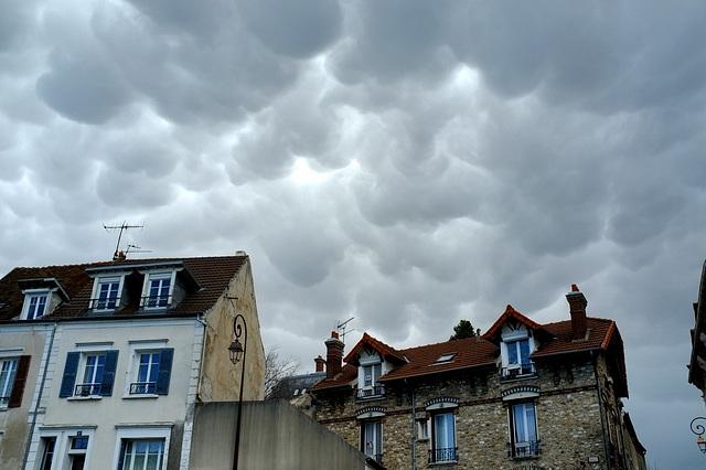 Hier pendant l'orage à Montmorency - Val-d'Oise