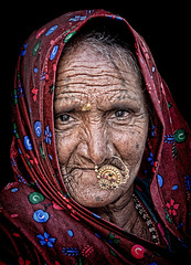 Rajasthani desert tribal woman