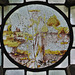 great dunmow church, essex,early C16 glass roundel of christ
