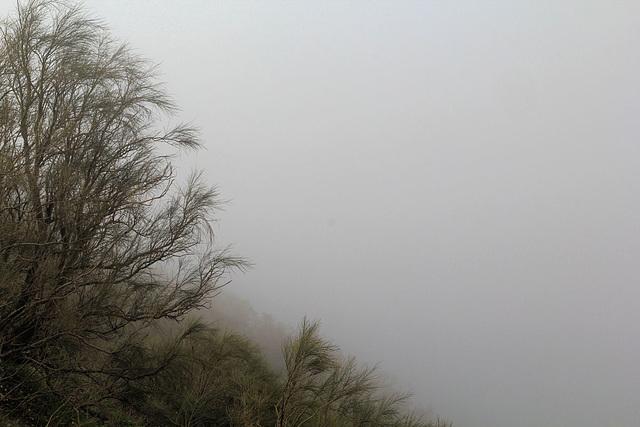 Im Wolkenschleier unsichtbar, die Bucht von Neapel
