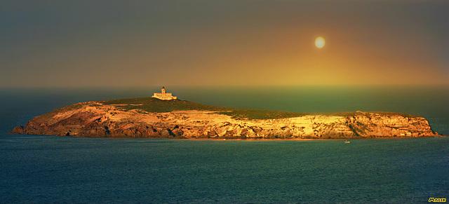 Couchant île de Benisaf.