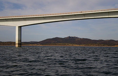 Mourão Bridge across Alqueva Lake.