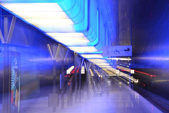 Erste ICM*-Versuche: U4-Station Hafen-City.