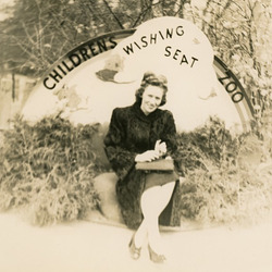 Woman on the Wishing Seat in the Children's Zoo at the Bronx Zoo
