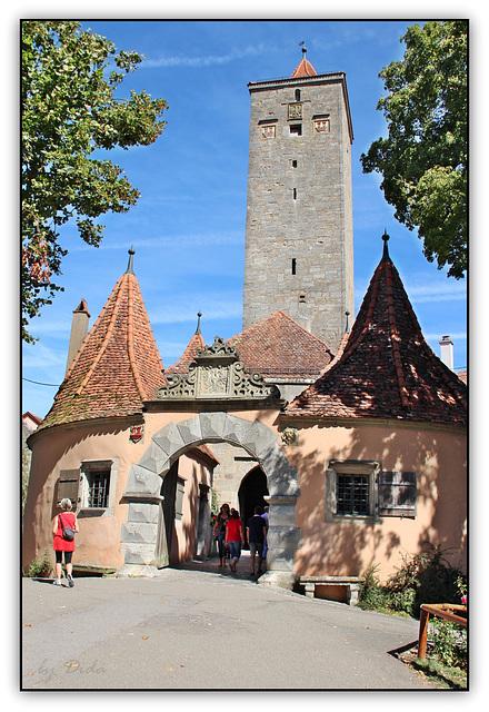 Rothenburg ob der Tauber - Burgtor u. Burgturm