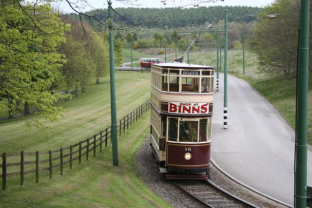 Tram No.16 at Beamish Museum 9th April 2017