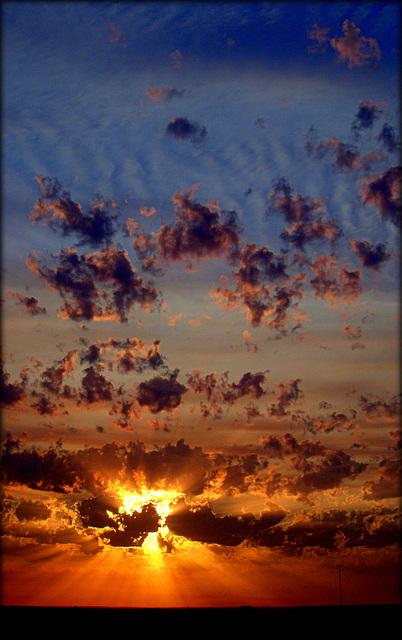 Dawn from my flat, Madrid