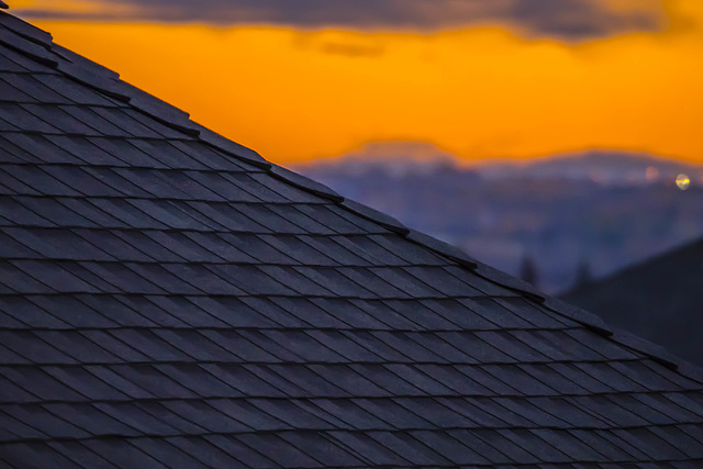 Roof Line and Sunset