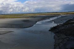 La baie du Mont Saint Michel,marée basse