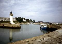 Leuchtturm im Hafen von Quiberon