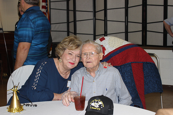 Photo #2  !!  100 year old.... with one of his many nieces....in Marietta , Georgia ~~  USA