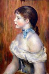 Jeune fille au ruban bleu . Pierre-Auguste Renoir