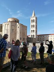 Touristen auf Bildungsreise