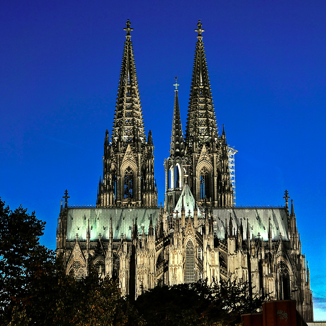 Der Kölner Dom  - Ostansicht
