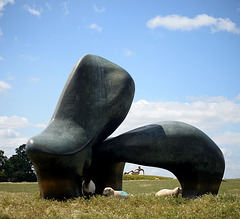 Sheep Piece and Large Reclining Figure