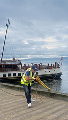 PS 'Waverley' Being Tied up at Helensburgh Pier
