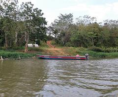 Barca por la isla de arco (Nicaragua)