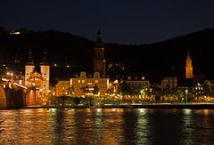Stadt Heidelberg   -  PIP - Das Schloß mit Mondschein