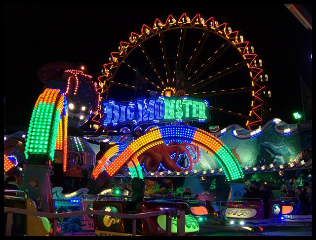 """""""Big Monster"""" und Riesenrad auf dem """"Hamburger Dom"""""""