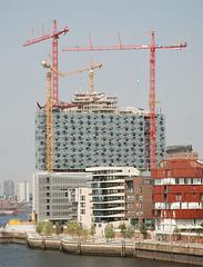 Elbphilharmonie im Bau:   Juli 2010