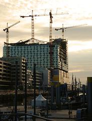 Elbphilharmonie im Bau:   August 2010