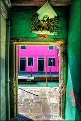 Von Grün zu Pink