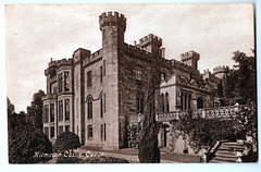 Kilmaron Castle, Cupar, Fife, Scotland (Demolished c1985) from a c1920 postcard