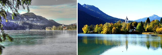 Weissensee im Herbst und Winter. ©UdoSm