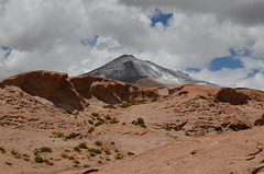 Bolivian Altiplano, Eroded Volcanic Lava Flows of Ollagüe and Sarapuro