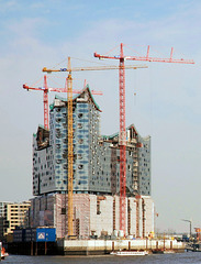 Elbphilharmonie im Bau:  April 2011